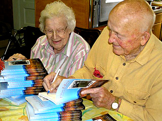 Fred and Ruby Wasson signing memoir